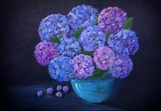 Sue Hollins. Acrylic on canvas.