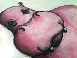 HIPPOPOTAMUS IN THE SINK