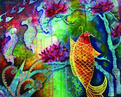 Alison Lewis. Acrylic