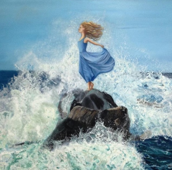 Anne English. Oil on Canvas.