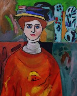Eva Schonstein. Study in oils.