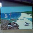 Et voila! Shorebirds mural complete at U