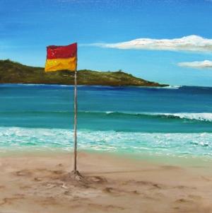 chris-downs-beach-flag