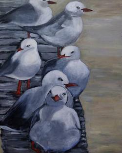 Sue Hollins. Study in acrylics.