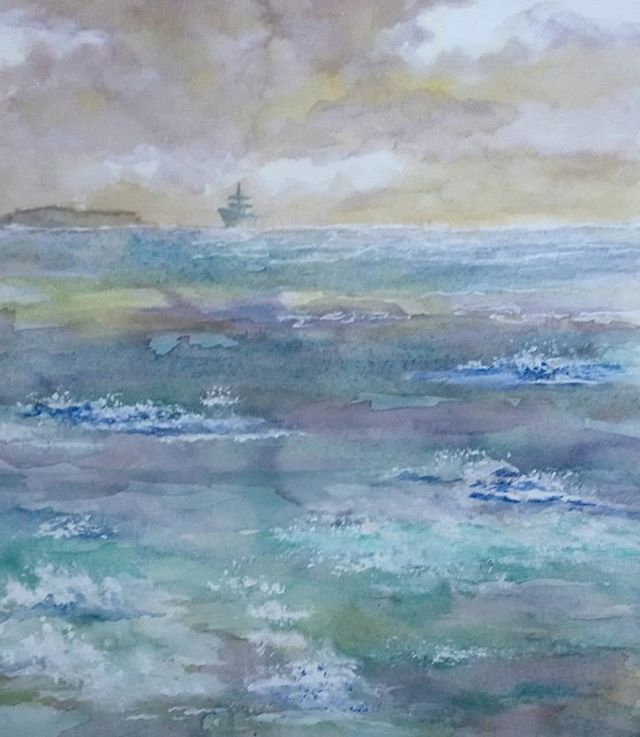 Sharon Heighway. Watercolour study.