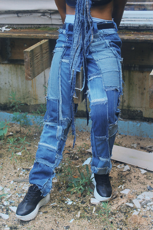 Denim Scrap Jeans