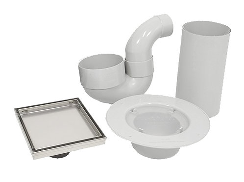 Tile Insert Waste Shower Kit