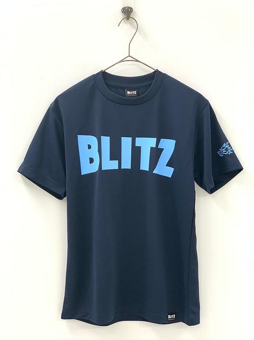 BLITZ ドライ半袖Tシャツ ネイビー×サックス