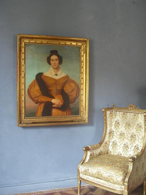 """""""Félix  Saurine Grand Portrait à La Fourrure 111 X 93 -XVIII"""