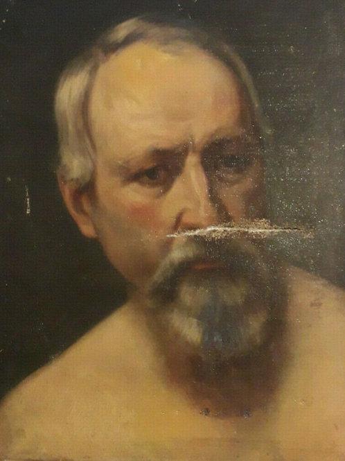 Portrait - Académie d'homme 19 ème