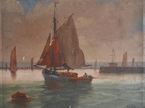 Scène lacustre  - Léon Maxime Faivre (1856 – 1914)