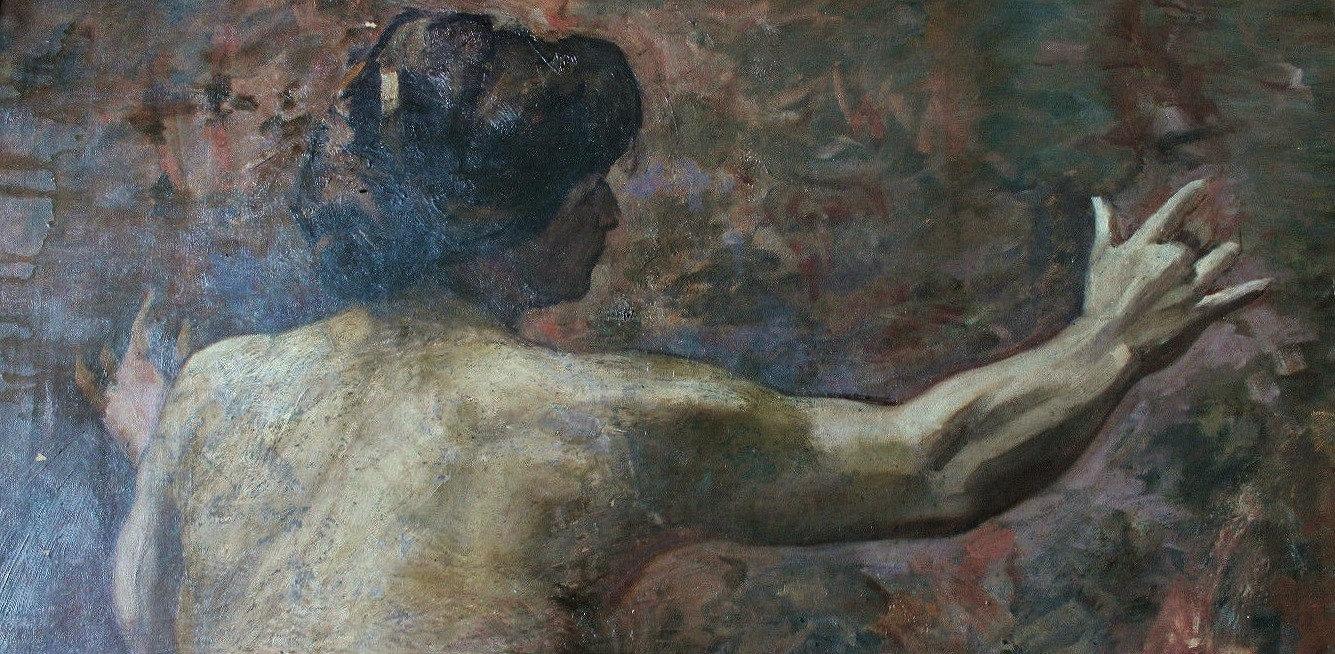 Académie de femme 140 x 90 monogrammée PS 1904