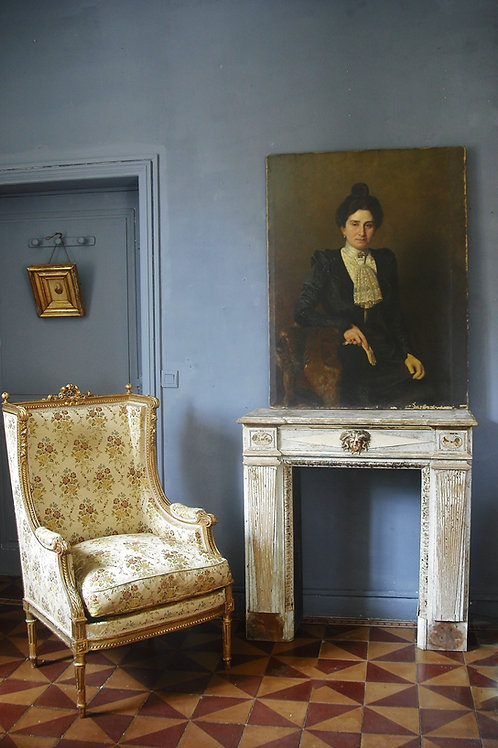 Grand Portrait Adolphe Demange 116 X 89 Elègante aux Gants 1899
