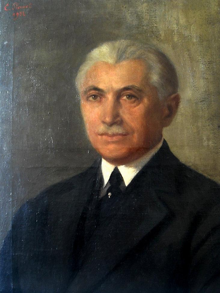 Huile signée C Flanel 1902