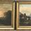 Thumbnail: Diptyque signé Johann Marx ( 1866 -1937 ) HST Paysages Lacustre - 88 x 72 cm