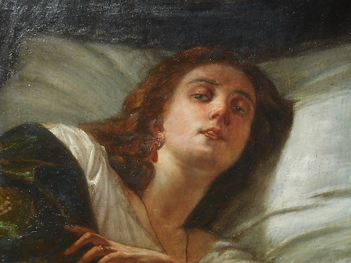 Portrait d'une femme  deBartoloémo di Giuliano -67,5 x 59 - 18 ou 19 éme
