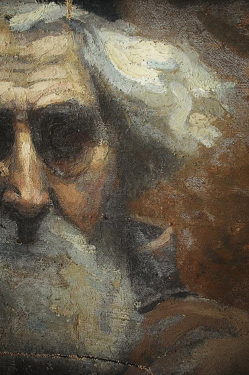 """Huile sur toile de Mathilde Arbey (1890-1966). """" Portait d'un religieux"""""""