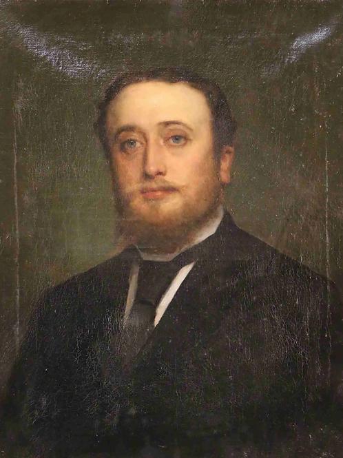 Portrait  signé - Lievin de Winne ( 1821 Gand - 1880 Bruxelles )