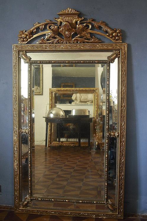Grand Miroir à pare closes 184 x 100 Napoléon III