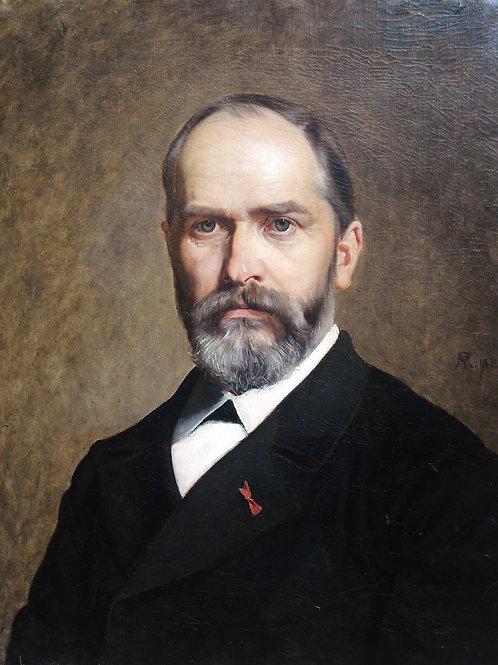 Huile signée 1885, 70,5 x 60,5