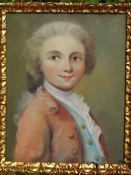 Portrait De Page - Pastel Signé Zoé Laigneau
