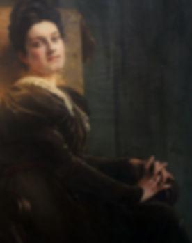 Portrait d'Alice Kaub par E Thiviers HST 120 x 119 -