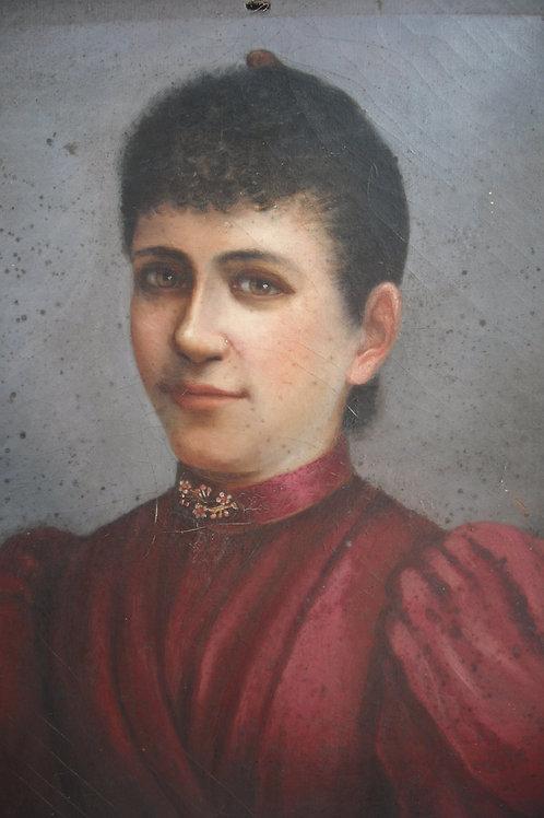 Portrait dame de qualité   H56 x L46