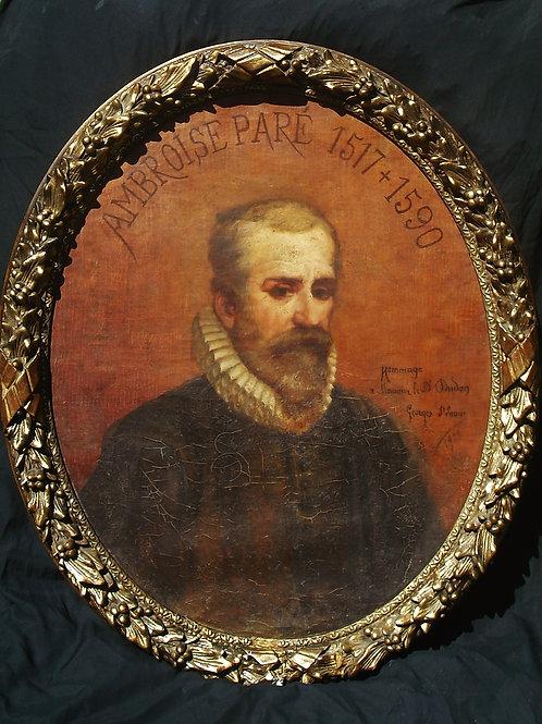 G St Lanne Grand Portrait d' Ambroise Paré 93 X 68