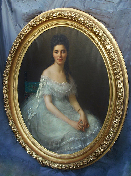 F Birotheau Très Grand Portrait 147 X 117 - 1875