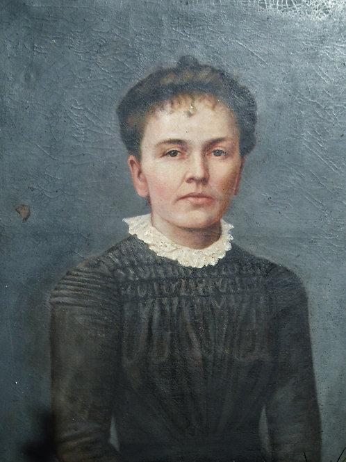 Portrait signé A Bralebois   -  66 x 54