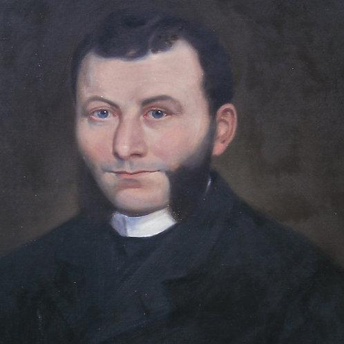 Portrait à vue ovale,  à l'huile   64,5  -53,5 cm