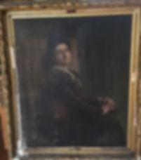 Portrait d'Alice Kaub par E Thiviers 140 x 120 cm