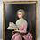 Thumbnail: Portrait  de dame à la partition - 76 x 40  HST avec cadre