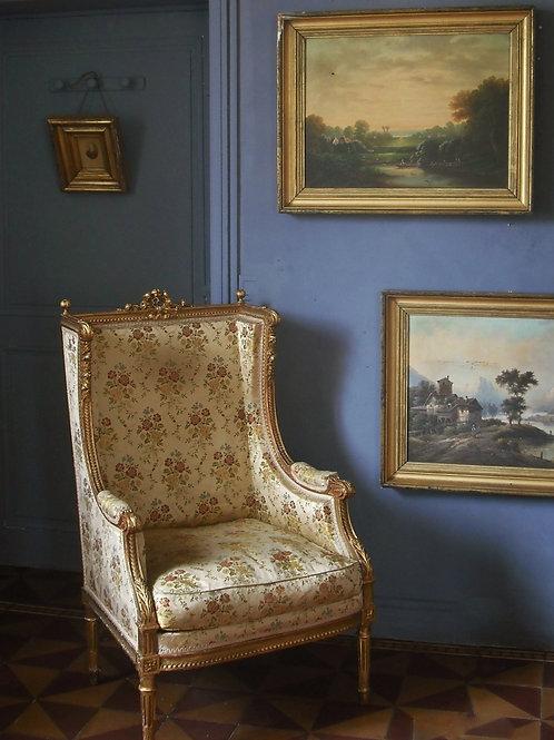 Diptyque signé Johann Marx ( 1866 -1937 ) HST Paysages Lacustre - 88 x 72 cm