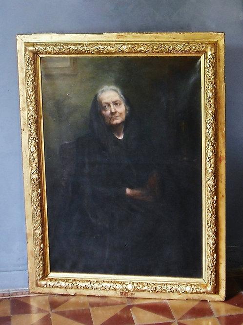 Très Grand Portrait A Kaub Casalonga Portrait De Famille 140 X 103 - HST