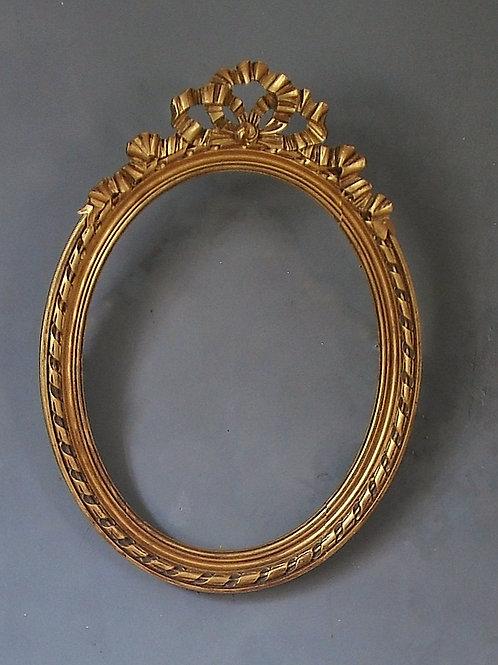 Cadre Ovale à Fronton Style Louis XV -67 X 49