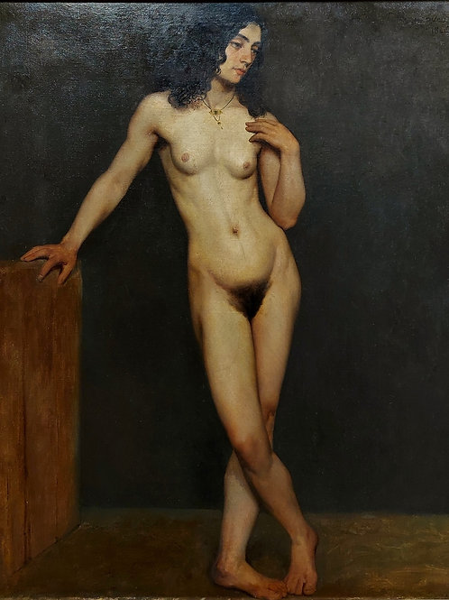 Jules-Eugène LENEPVEU XIX -Académie Nu -91 x 65