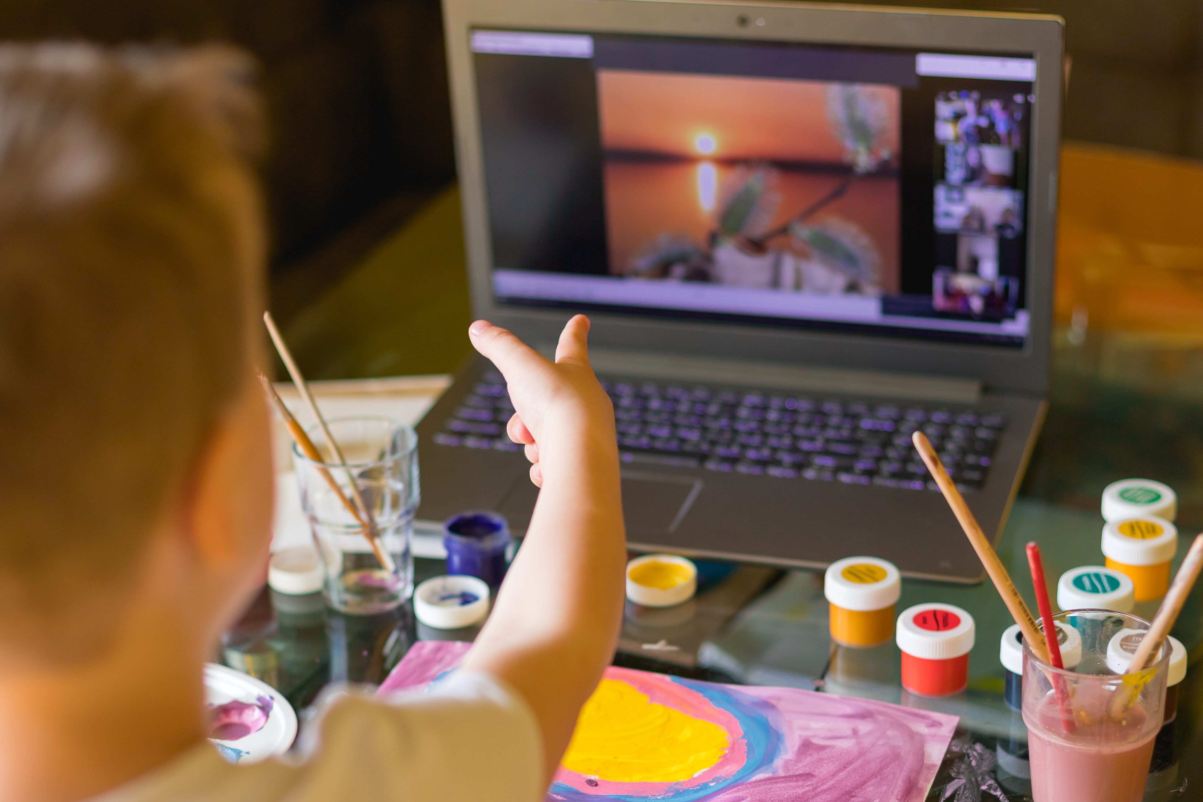 Creative toddler boy is creativity and t