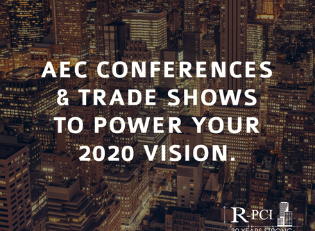 AEC Conferences & Trade Shows to Power Your 2020 Vision.