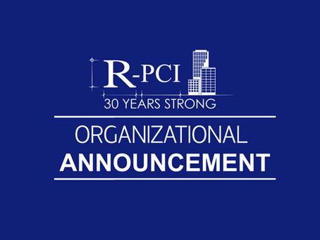 R-PCI Construction Announces New President & CEO, Ron Main.