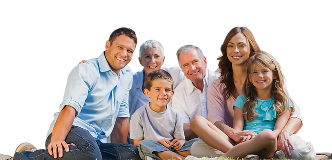 Familia feliz de ir al dentista en sant cugat