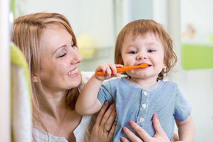 Técnica de limpieza y de cepillado infan
