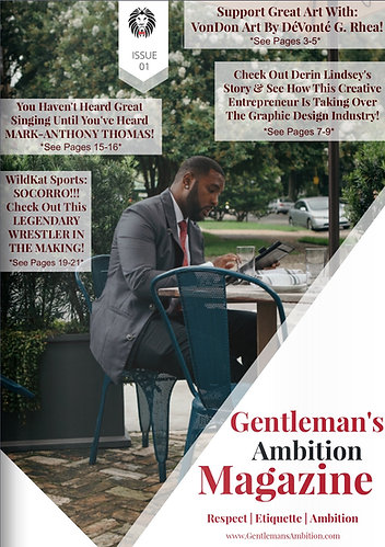 Digital Copy: Gentleman's Ambition Magazine Issue Issue 01