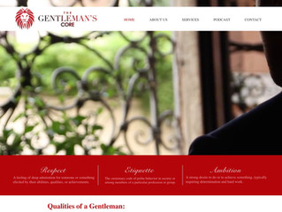 The Gentleman's Core Website Redesign
