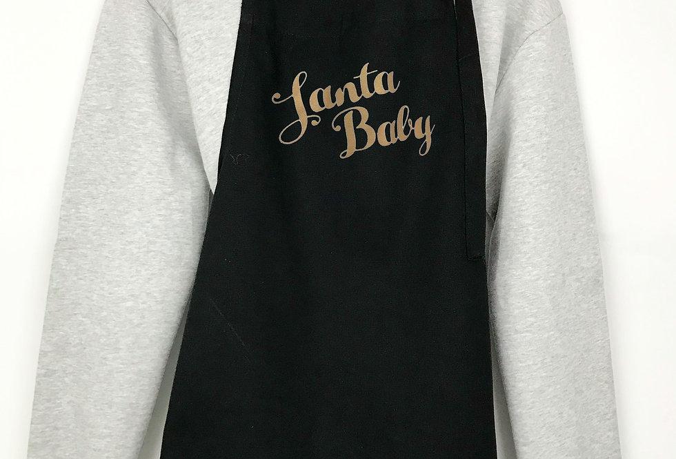 Santa Baby Black Apron