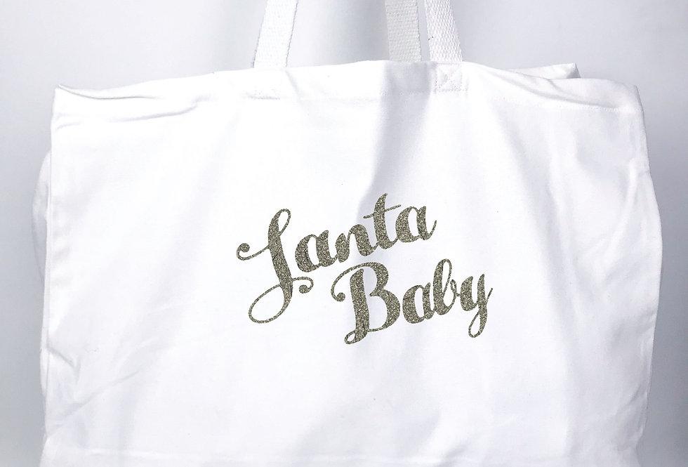 Santa Baby White Tote Bag