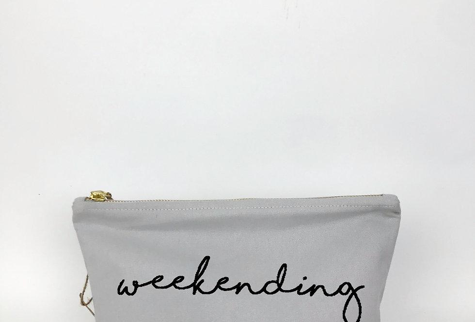 Weekending Grey Zip Bag