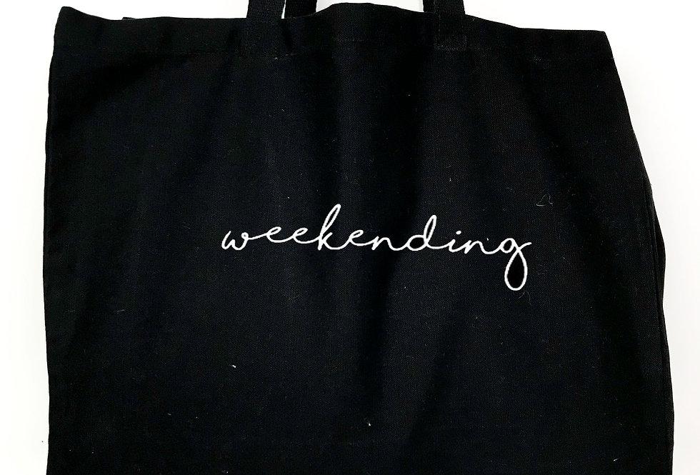 Weekending Black Tote Bag