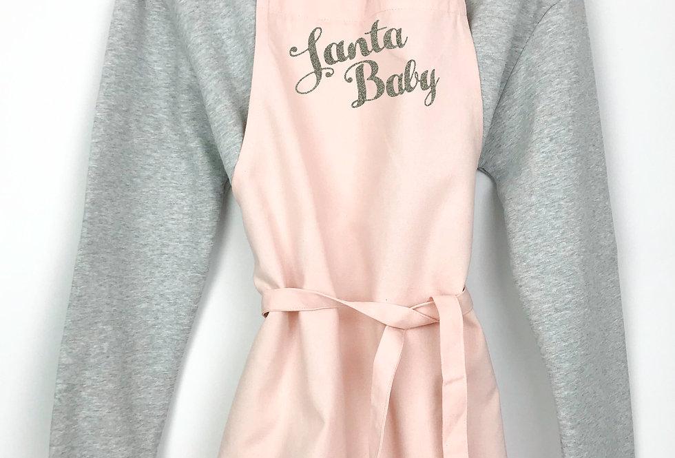 Santa Baby Pink Apron
