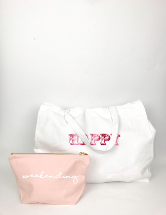 white happy tote bag with pouch .jpg